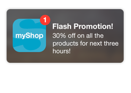 beacon Surprise customers near your store with push notifications