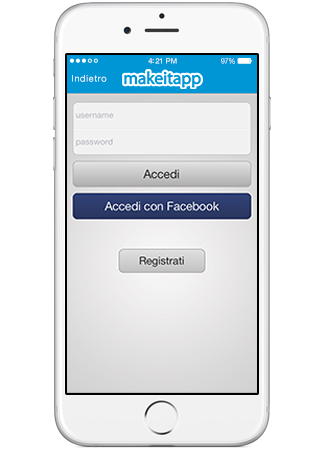 voucher effettua login o con facebook makeitapp